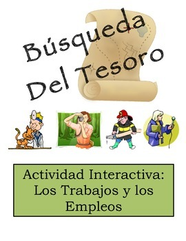 Spanish Jobs and Professions Vocabulary Scavenger Hunt Activity