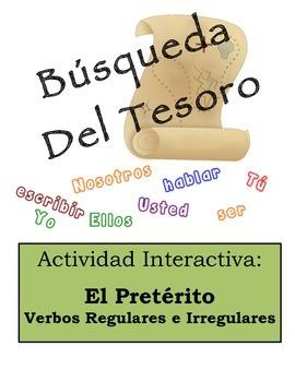 Spanish Preterite (Regular & Irregular) Scavenger Hunt Activity