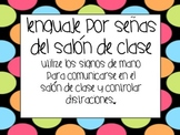 Spanish Classroom Sign Language Posters