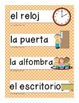 Spanish Classroom Signs and Labels/Graphics/ ESL,ELD,ELL,Bilingual,Immersion