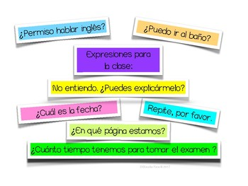 Spanish Classroom Signs for Intermediate and Advanced Communication