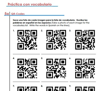 Spanish Classroom Vocabulary, Gender/Number of Nouns, Articles (Unidad 3)
