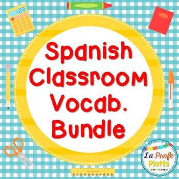 Spanish Classroom Vocabulary Bundle