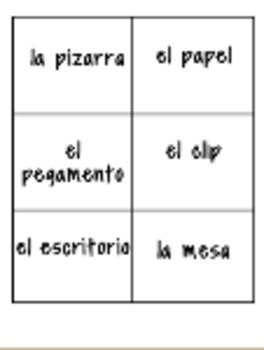 Spanish Classroom Vocabulary introduction and practice.