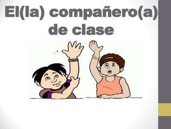 Spanish Classroom and School Vocabulary PICTURE Notes Powerpoint