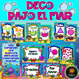 Spanish: Classroom decor (Decoración Bajo el Mar)