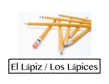 (Spanish) Classroom objects / Objetos de la clase