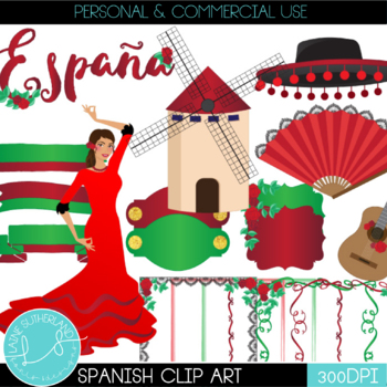 Spanish Clip Art Set