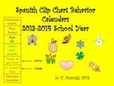 Spanish Clip Chart Behavior Calendar