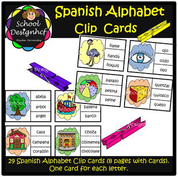 Spanish Clip It Cards - Literature Center (School Designhcf)