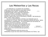 Spanish Close Reading---Meteorites and Rocks