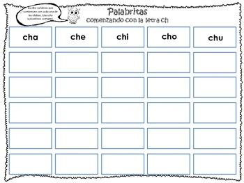 Palabritas - Sílabas abiertas del español -Spanish Open Syllables