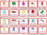Spanish Clothes Bingo Game
