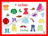 Spanish Clothes Presentation, Bingo Game and Audio Vocabul