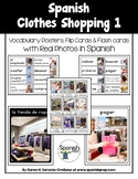 Spanish Clothes Shopping 1 Vocabulary Posters & Flashcards with Real Photos