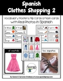 Spanish Clothes Shopping 2 Vocabulary Posters & Flashcards with Real Photos