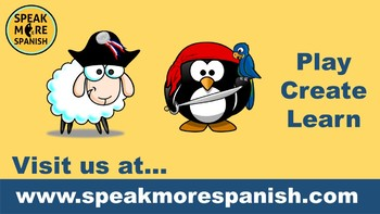 Spanish Clothes Vocabulary. ¡Los Piratas Pingüinos!  La Ropa PowerPoint Games.