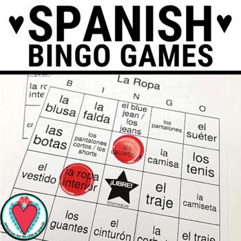 Spanish Clothing BINGO La Ropa