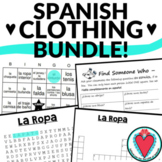 Spanish Clothing Unit - 4 Activities with Clothing Vocabulary