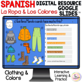 Spanish Clothing & Colors Digital Distance Learning La Rop