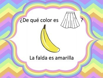 Spanish Clothing & Colors Powerpoint