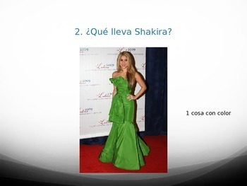 Spanish Clothing & Colors Quiz