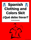 Spanish Clothing and Colors Skit / Role Play / Dialogue - Ropa y Colores