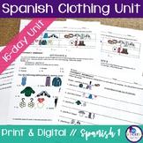 Spanish Clothing Unit Bundle
