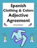 Spanish Clothing & Colors Worksheet - Noun Adjective Agree
