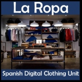 Spanish Clothing Digital Unit - Video Project, Lessons & Games - La Ropa