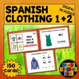 Spanish Clothing Boom Cards, Spanish Digital Flashcards, T