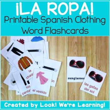 Spanish Clothing Flashcards - ¡La Ropa!