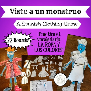 Spanish Clothing Game La Ropa: Viste a un monstruo