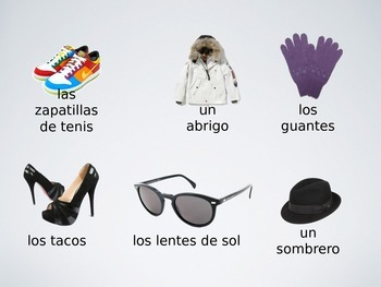 Spanish Clothing Game - Test Your Memory