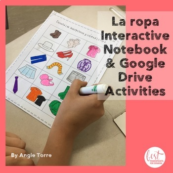 Spanish Clothing Interactive and Google Drive Activities