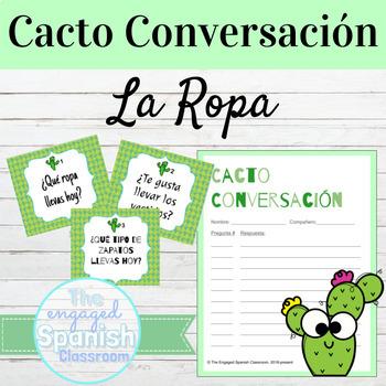 Spanish Clothing La Ropa Cacto Conversación Speaking Activity