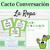 Spanish Clothing La Ropa Cacto Conversación Speaking Activity
