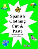 Spanish Clothing Cut and Paste / Game Cards