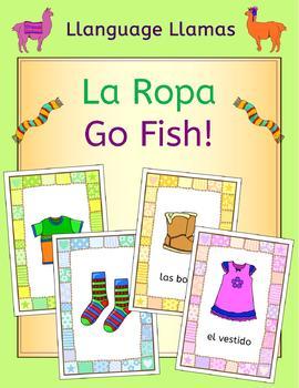 Spanish Clothing La Ropa Go Fish! Game