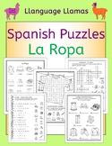 Spanish Clothing La Ropa Puzzles