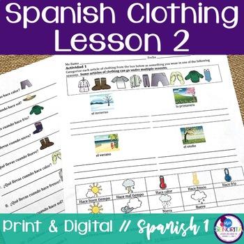 Spanish Clothing Lesson 2