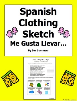 Spanish Clothing, Months, and Weather Sketch Worksheet