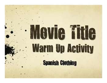 Spanish Clothing Movie Titles