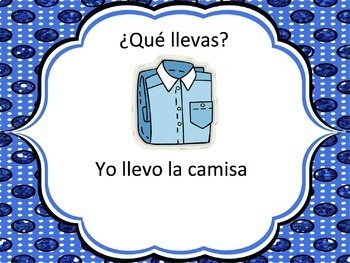 Spanish Clothing Powerpoint 1