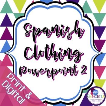 Spanish Clothing Powerpoint 2