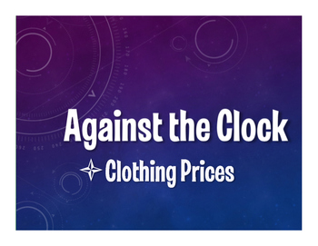 Spanish Clothing Prices Against the Clock