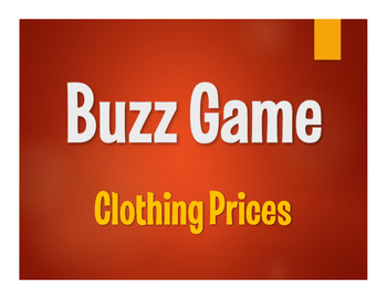 Spanish Clothing Prices Buzz Game