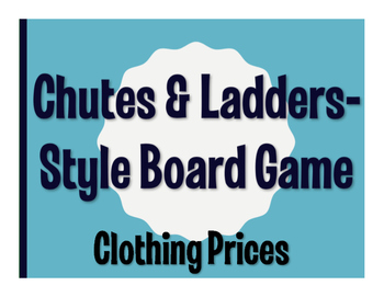Spanish Clothing Prices Chutes and Ladders-Style Game