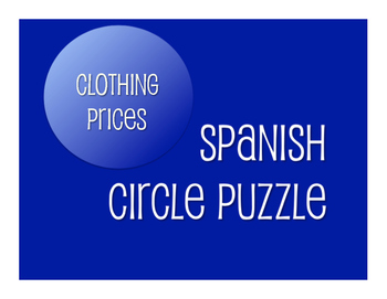 Spanish Clothing Prices Circle Puzzle