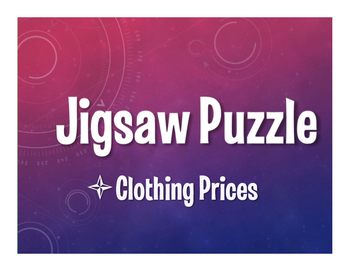 Spanish Clothing Prices Jigsaw Puzzle